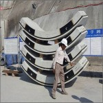 RCC Hexagonal Segments used for Tunnel Lining in Bheri Babai Diversion Multipurpose Project